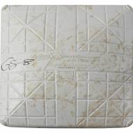 New York Yankees Gary Sanchez Signed Orioles at Yankees 9-14-2017 Game Used Second Base (Innings 1-2)