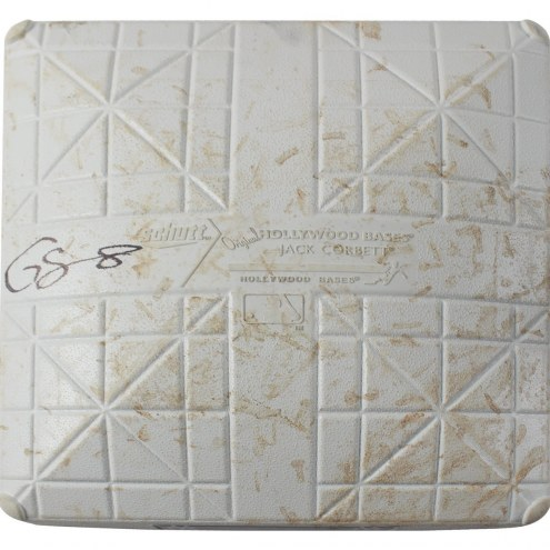 New York Yankees Gary Sanchez Signed Orioles at Yankees 9-14-2017 Game Used Third Base (Innings 1-2)