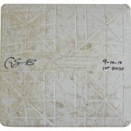 New York Yankees Gary Sanchez Signed Orioles at Yankees 9-14-2017 Game Used First Base w/ 9-14-17 1st Base