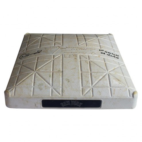 New York Yankees Gary Sanchez Signed Twins at Yankees 4-26-2018 Game Used First Base (Innings 6-9) w/ 1st Walkoff HR 4/26/18