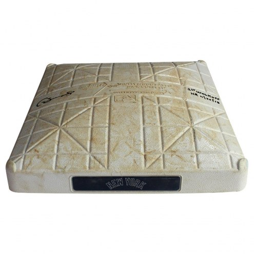 New York Yankees Gary Sanchez Signed Twins at Yankees 4-26-2018 Game Used Second Base (Innings 6-9) w/ 1st Walkoff HR 4/26/18