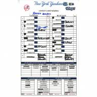 """New York Yankees Gary Sanchez Signed Yankees at Blue Jays 9-23-2016 Game Used Lineup Card  w/ """"Rookie Season"""""""