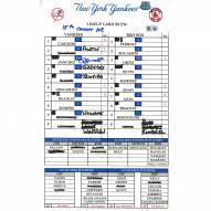 """New York Yankees Gary Sanchez Signed Yankees at Red Sox 9-17-2016 Game Used Lineup Card w/ """"15th Career HR"""""""