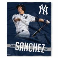 New York Yankees Gary Sanchez Silk Touch Blanket