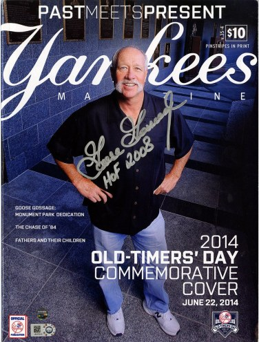 New York Yankees Goose Gossage Signed 2014 Old Timers Day Yankees Magazine w/HOF 2008