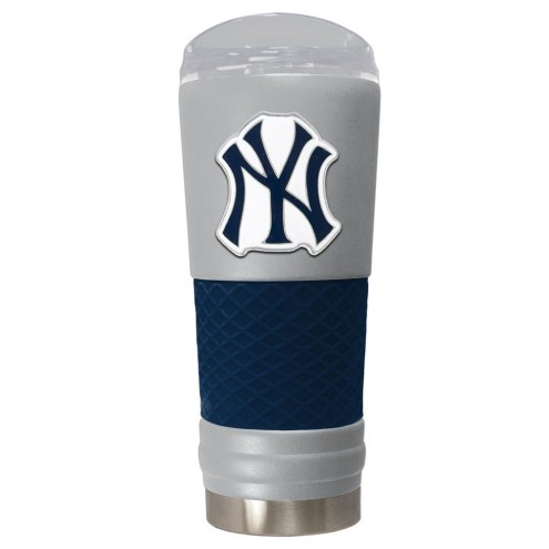 New York Yankees Gray 24 oz. Powder Coated Draft Tumbler