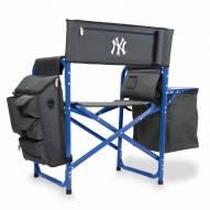 New York Yankees Gray/Blue Fusion Folding Chair