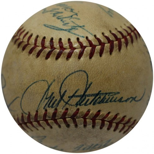 New York Yankees Hall of Famers and Stars Multi Signed ONL Baseball