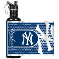 New York Yankees Hi-Def Black Stainless Steel Water Bottle