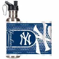 New York Yankees Hi-Def Stainless Steel Water Bottle