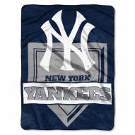 New York Yankees Home Plate Raschel Blanket