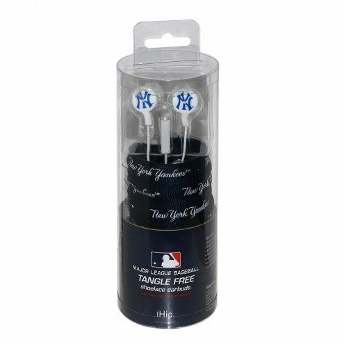 New York Yankees iHip Shoelace Earbuds