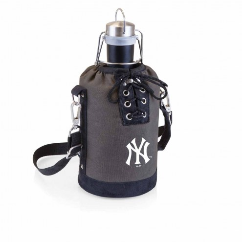 New York Yankees Insulated Growler Tote with 64 oz. Stainless Steel Growler