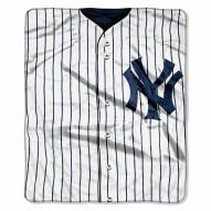 New York Yankees Jersey Raschel Throw Blanket