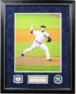 New York Yankees Joba Chamberlain In The Game Dirt Signed Collage