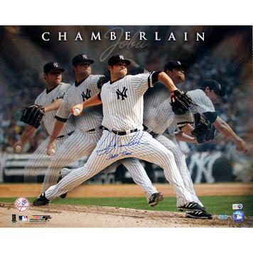 "New York Yankees Joba Chamberlain Multi Exposure w/ ""Joba Time"" Signed 16"" x 20"" Photo"