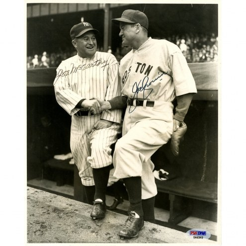 New York Yankees Joe McCarthy and Joe Cronin Dual Signed 8 x 10 Photo