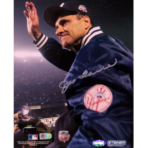 """New York Yankees Joe Torre 2000 WS Carry Off Signed 16"""" x 20"""" Photo"""