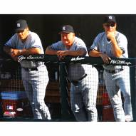 """New York Yankees Joe Torre, Don Zimmer and Mel Stottlemyre Dugout Signed 16"""" x 20"""" Photo"""