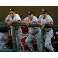 """New York Yankees Joe Torre, Don Zimmer and Mel Stottlemyre On Dugout Steps Signed 16"""" x 20"""" Photo"""