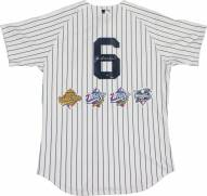 New York Yankees Joe Torre Signed Authentic Pinstripe Jersey with World Series Patches