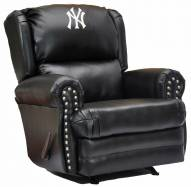 New York Yankees Leather Coach Recliner