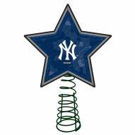 New York Yankees Light Up Art Glass Mosaic Tree Topper
