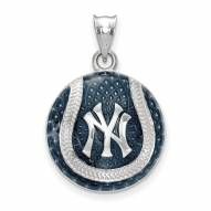 New York Yankees Sterling Silver Baseball Pendant