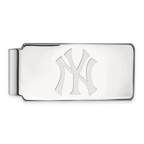 New York Yankees Sterling Silver Money Clip