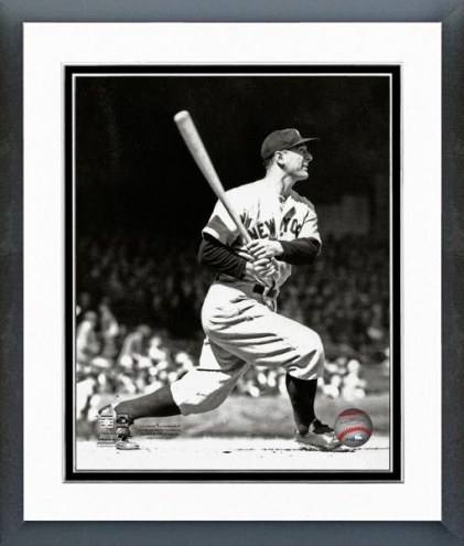 New York Yankees Lou Gehrig 1935 Action Framed Photo