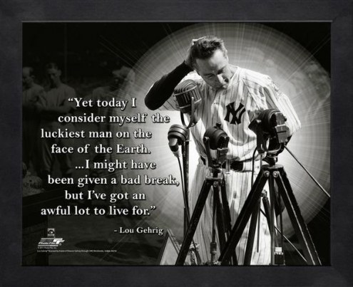 New York Yankees Lou Gehrig MLB Framed Pro Quote