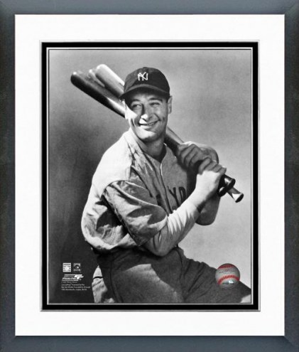 New York Yankees Lou Gehrig Posed Framed Photo