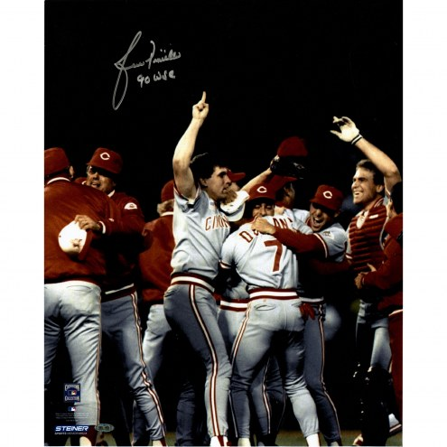 "New York Yankees Lou Piniella World Series Celebration w/ 90 WSC Signed 16"" x 20"" Photo"