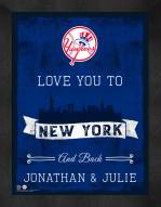 New York Yankees Love You to and Back Framed Print