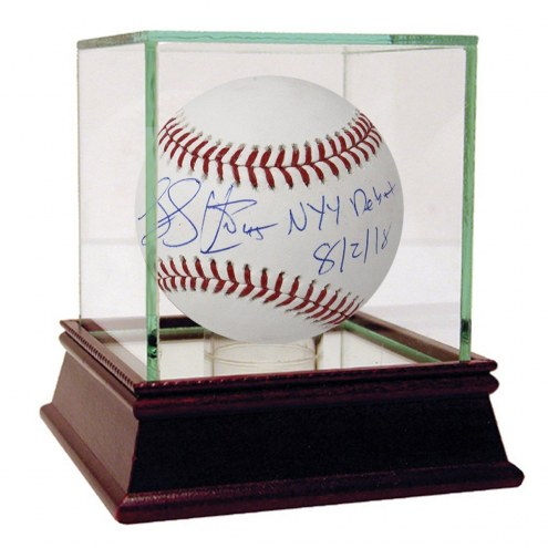 New York Yankees Luke Voit Signed MLB Baseball w/ NYY Debut 8/2/18