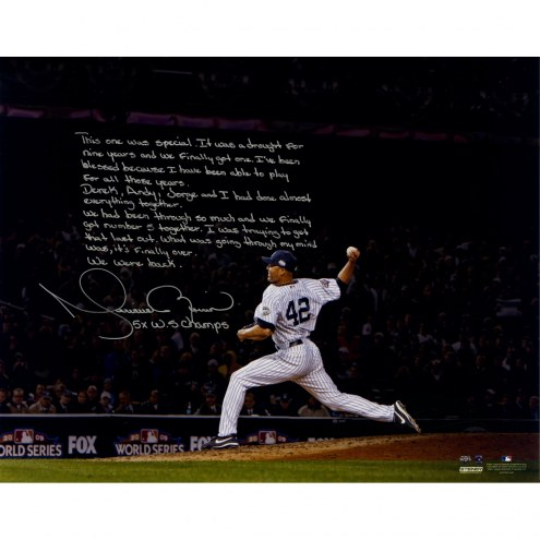 "New York Yankees Mariano Rivera 2009 World Series Save 'Story' Signed 16"" x 20"" Photo"