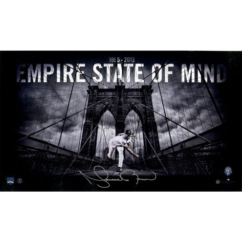 New York Yankees Mariano Rivera Empire State of Mind Signed 14 x 24 Photo