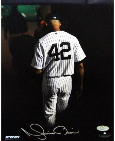 New York Yankees Mariano Rivera Final Exit At Yankee Stadium Signed 8 x 10 Photo