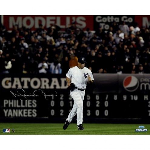 "New York Yankees Mariano Rivera Run Onto The Field Signed 16"" x 20"" Photo"