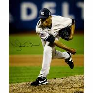 New York Yankees Mariano Rivera Signed 2013 All-Star Game Pitching Color Vertical 16 x 20 Hauser Photo (Signed by Hauser)