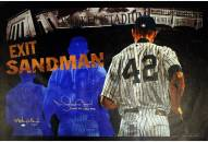 """New York Yankees Mariano Rivera Signed Stephen Holland Exit Sandman Giclee 25 x 44 Canvas w/ """"Last To Wear #42"""""""