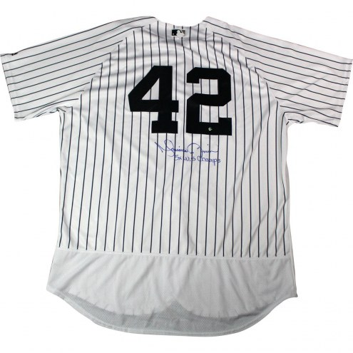 New York Yankees Mariano Rivera Signed #42 Authentic Pinstripe Jersey w/ 5x WS Champ