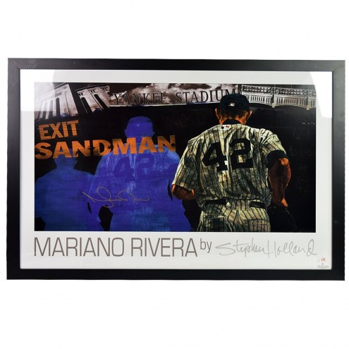 New York Yankees Mariano Rivera Signed and Framed Sandman Poster