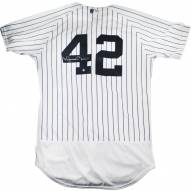 New York Yankees Mariano Rivera Signed Authentic Flex Base Pinstripe Jersey