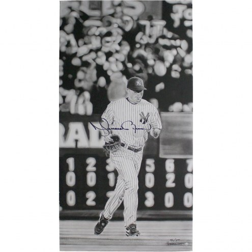 New York Yankees Mariano Rivera Signed Entering Game Stretched 36 x 19 Canvas