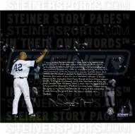 New York Yankees Mariano Rivera Signed & Inscribed Final Game Tipping Cap 20 x 24 Story Photo