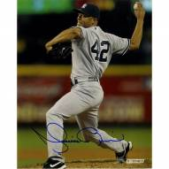 New York Yankees Mariano Rivera Signed Pitching in Away Uniform 8 x 10 Photo