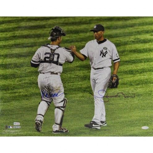 """New York Yankees Mariano Rivera/Jorge Posada Hand Shake Signed 16"""" x 20"""" Photo"""