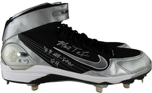 New York Yankees Mark Teixeira Signed 2014 Game Used Black & Silver Cleat Pair w/ 09 All Star GU