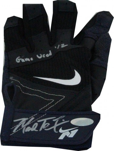 New York Yankees Mark Teixeira Signed Blue/Black Game Used Batting Glove Pair